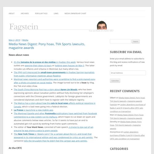 Fagstein Montreal Blog