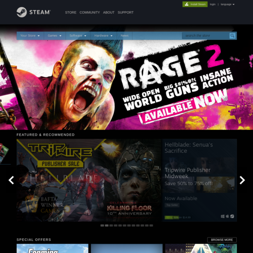 Steam Game Store
