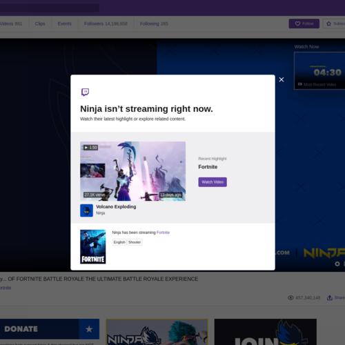 Ninja On Twitch